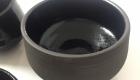 Teeschale aus schwarzem Ton - schwarz glasiert
